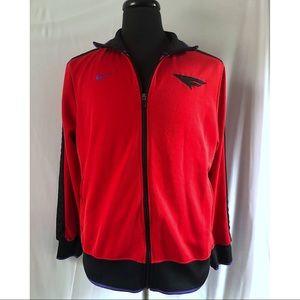 Nike Flight Track Jacket Red Black Zip Up Large